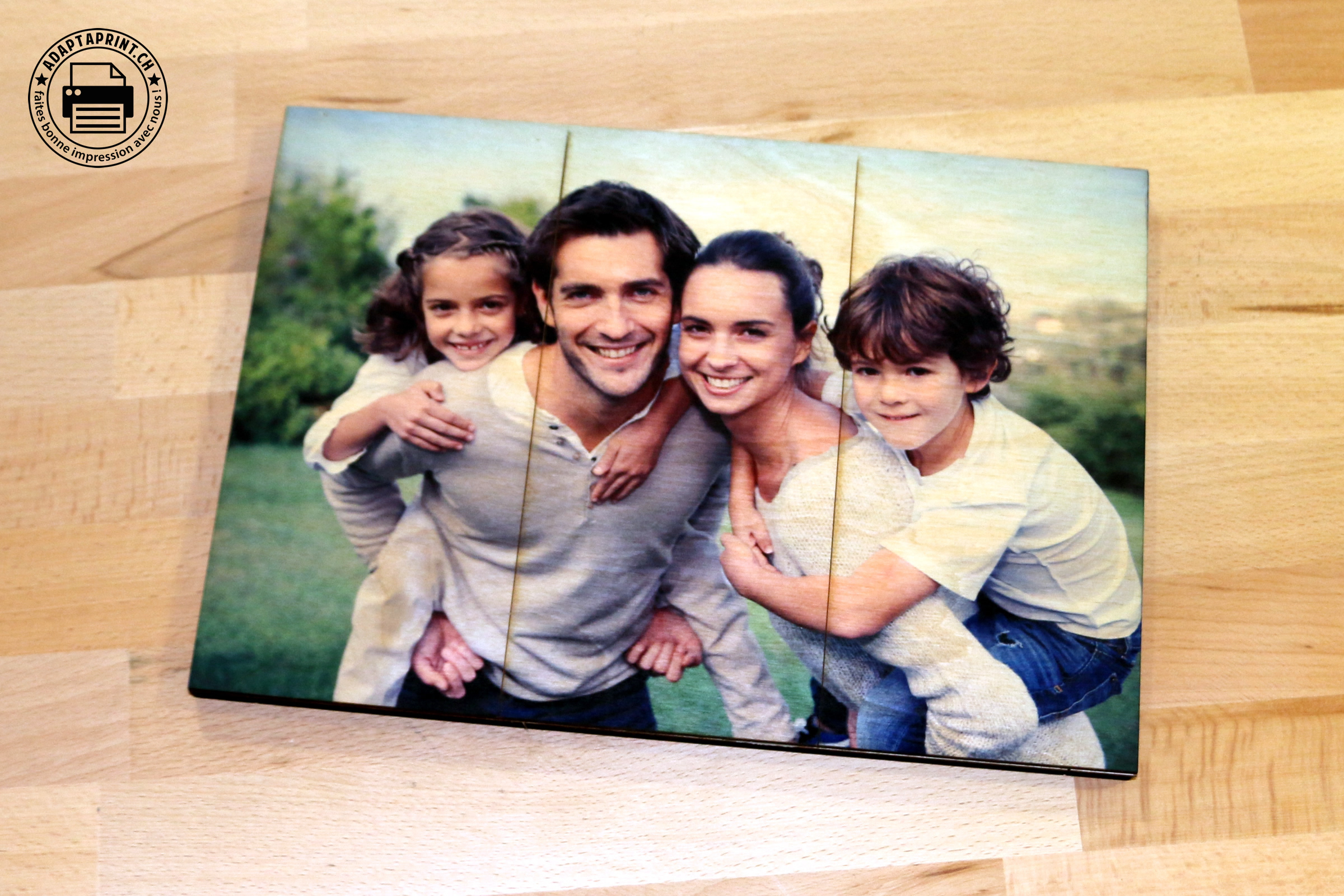 Impression Photo Planche Bois adaptaprint - panneaux bois personnalisés par sublimation